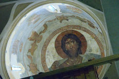 The mural Christ Pantocrator Royalty Free Stock Image