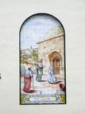 Mural on Church wall in Malaga Stock Images