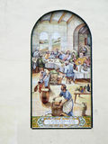 Mural on Church wall in Malaga Stock Photos