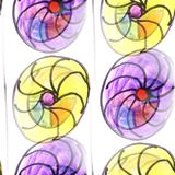 Mural colored umbrellas and circles background seamless pattern Stock Photography