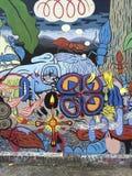 Mural colorido del callejón de Clarion en el distrito de la misión, San Franisco fotografía de archivo libre de regalías