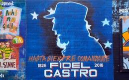 Mural con Fidel Castro, Belfast, Irlanda del Norte Fotografía de archivo