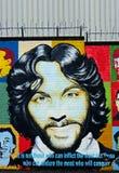Mural con Francis Hughes, Belfast, Irlanda del Norte Imagen de archivo libre de regalías