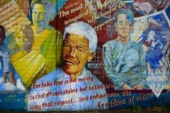Mural con Nelson Mandela, Belfast, Irlanda del Norte Fotos de archivo libres de regalías