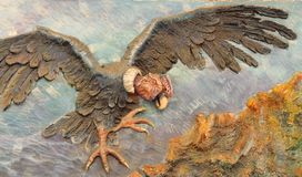 A mural of a Condor. Decorates a wall in the Bolivian capital of La Paz stock images