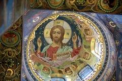 Mural de Jesús en la iglesia Fotos de archivo libres de regalías