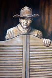 Mural de John Wayne imagen de archivo