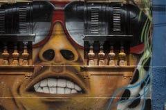 Mural de la cara stock de ilustración