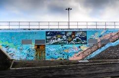 Mural de la comunidad en el puerto Imagenes de archivo