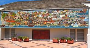 Mural de la historia en el centro de conferencias, Monterey, California de Monterey fotos de archivo