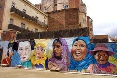 Mural de la mujer étnica múltiple foto de archivo libre de regalías