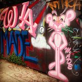 Mural de la pared de la playa de Venecia del arte de la calle imágenes de archivo libres de regalías