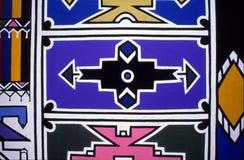 Mural de la pared de Ndebele Fotos de archivo libres de regalías