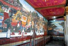 Mural de la pintura del palacio magnífico Imagenes de archivo
