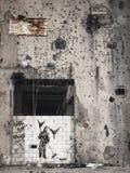 Mural de la plantilla de la protesta de la paz en Beirut central Líbano Fotos de archivo libres de regalías
