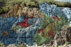 Mural DE La Prehistoria Royalty-vrije Stock Fotografie
