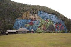 Mural de la prehistoria, Vinales, Cuba Royalty Free Stock Photos