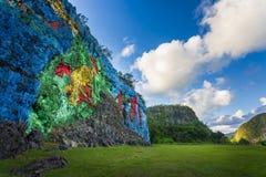 Mural DE La Prehistoria, Vinales, Unesco, Pinar del Rio Province stock afbeeldingen