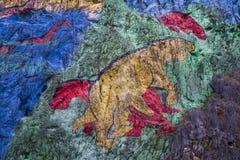 Mural de la Prehistoria, Vinales, Unesco, Pinar del Rio Province fotografia stock