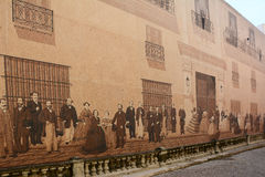 Mural de Mercaderes Stock Photos