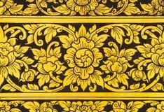 Mural de oro de la flor Imagenes de archivo