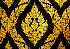 Mural de oro de la flor Fotos de archivo