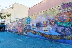Mural de OS Gemeos en Coney Island, New York City Imagen de archivo