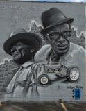 Mural de Sam Hopkins y de Mance Lipscomb, Ellum profundo, Tejas fotos de archivo libres de regalías