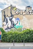 Mural with dead animals, in Kreuzberg, Berlin Royalty Free Stock Photos