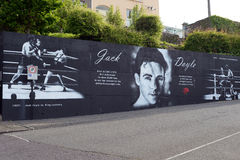 Mural dedicated to Jack Doyle Stock Photos