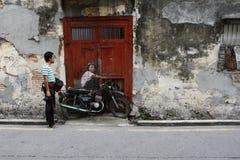 Mural del arte de la calle de Penang foto de archivo libre de regalías