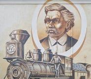 Mural del edificio en Punta Gorda, la Florida Imagenes de archivo