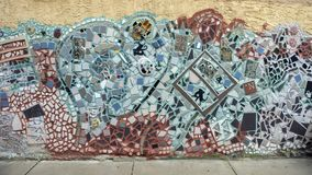 Mural del mosaico de Isaiah Zagar, Philadelphia Fotos de archivo libres de regalías