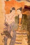 Mural del templo del phumin, NaN, Tailandia Imagen de archivo
