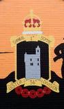 Mural del unionista, Belfast, Irlanda del Norte Fotografía de archivo