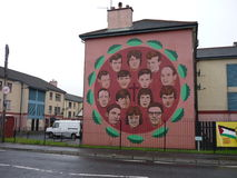 Mural in Derry. Wall mural in Derry, Northern Ireland stock images