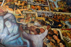 Mural by Diego Rivera, Mexico Royalty Free Stock Photo