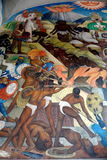 Mural by Diego Rivera, Mexico Stock Photo