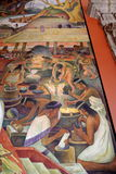 Mural by Diego Rivera, Mexico. The details of Diego Rivera's mural depicting Mexico's history, at the National Palace in Mexico City. Diego Rivera was a Stock Photo