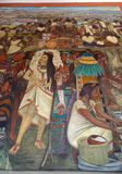 Mural by Diego Rivera, Mexico Royalty Free Stock Photography
