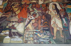 Mural by Diego Rivera, Mexico Stock Image