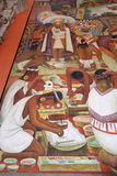 Mural by Diego Rivera, Mexico Royalty Free Stock Image