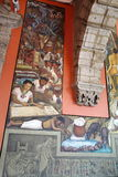 Mural by Diego Rivera, Mexico. The details of Diego Rivera's mural depicting Mexico's history, at the National Palace in Mexico City. Diego Rivera was a Stock Image