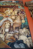Mural by Diego Rivera, Mexico Royalty Free Stock Images