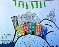 Mural downtown Halifax stock photos