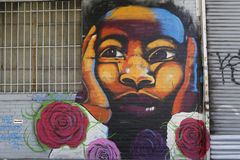 Mural at East Williamsburg in Brooklyn Royalty Free Stock Images
