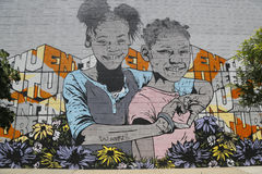 Mural at East Williamsburg in Brooklyn Royalty Free Stock Photography