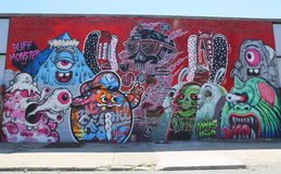 Mural at East Williamsburg in Brooklyn Stock Photography