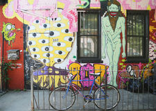 Mural at East Williamsburg in Brooklyn Stock Images