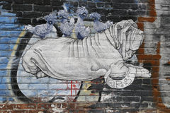 Mural at East Williamsburg in Brooklyn Royalty Free Stock Photos
